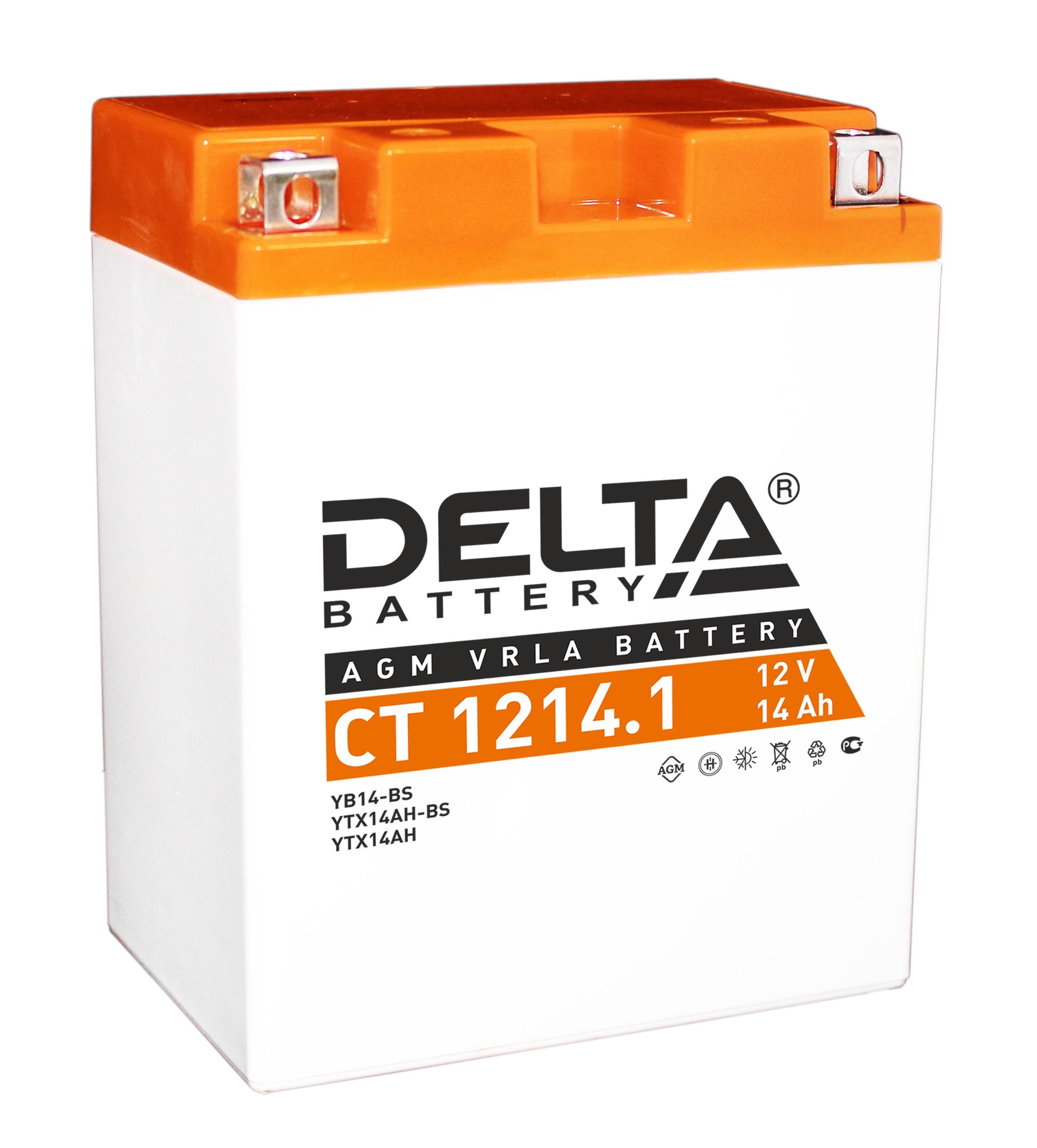 Аккумулятор автомобильный Delta CT 1214.1 14 Ач фото