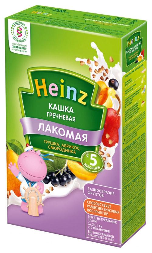 Каша молочная Heinz Гречневая грушка, абрикос, смородинка с 5 мес. 200 г