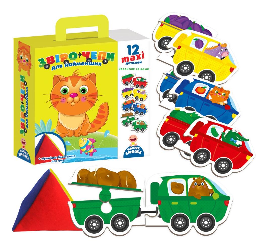 Развивающая игрушка Vladi Toys Звероцепы с мягкой