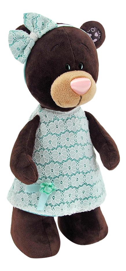 Мягкая игрушка Orange Toys Медведь milk стоячая в платье цвета мяты 30 см М5044/30