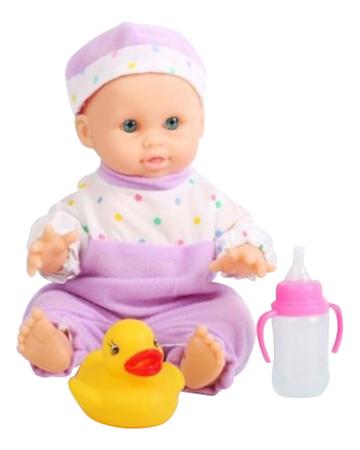 Пупс с поильником и утенком Baby Dolls 21 см Shenzhen Toys Д56101