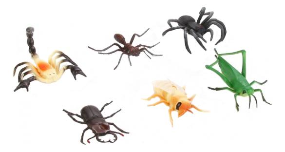 Купить Игровой набор 6 насекомых Играем вместе P9502/06, Играем Вместе, Фигурки животных