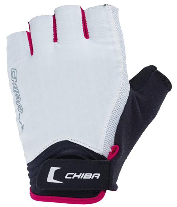 Перчатки для фитнеса и тяжелой атлетики Chiba Lady Air бело-розовые XS