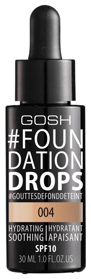 Купить Тональный крем GOSH Copenhagen Foundation Drops 004 Natural 30 мл