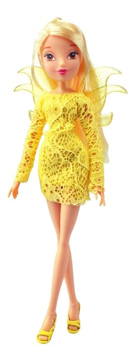 Кукла Winx Кружева Stella блондинка, желтое платье