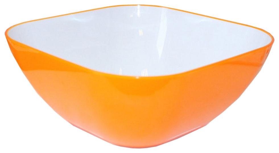 Пиала 20 см квадратная оранжевая