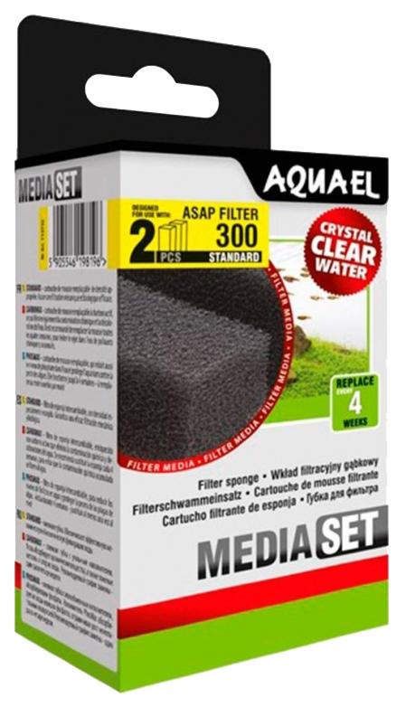 Губка для внутреннего фильтра Aquael PAT mini c phosmax для PAT, поролон, цеолит, 2шт, 20г