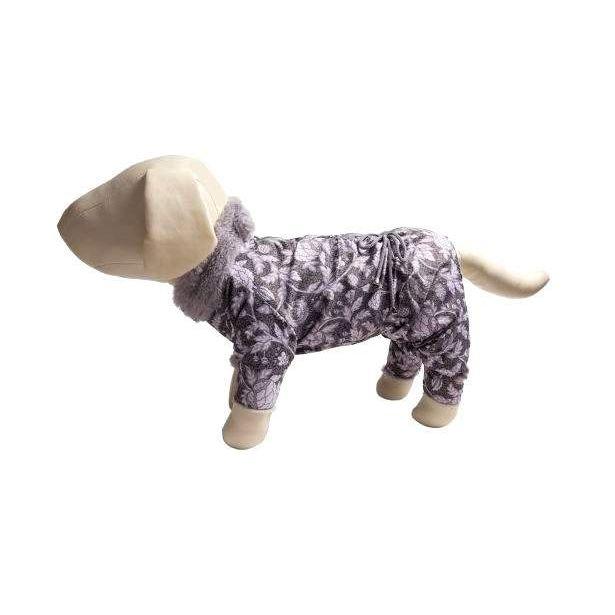 Комбинезон для собак OSSO Fashion размер M женский, розовый, серый, длина спины 28 см