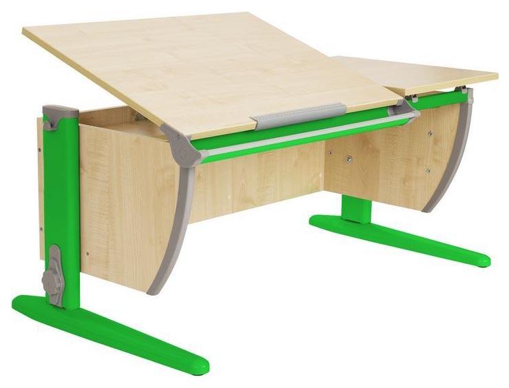 Парта Дэми СУТ 17-01Д2 с двумя задними двухъярусными приставками Клен Зеленый 120 см