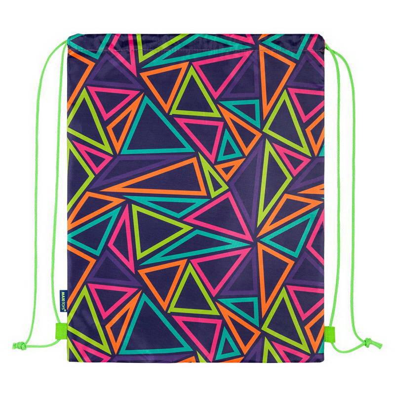 Купить Мягкая игрушка Maxitoys Мешок для Обуви Разноцветные Треугольники, Мешки для обуви