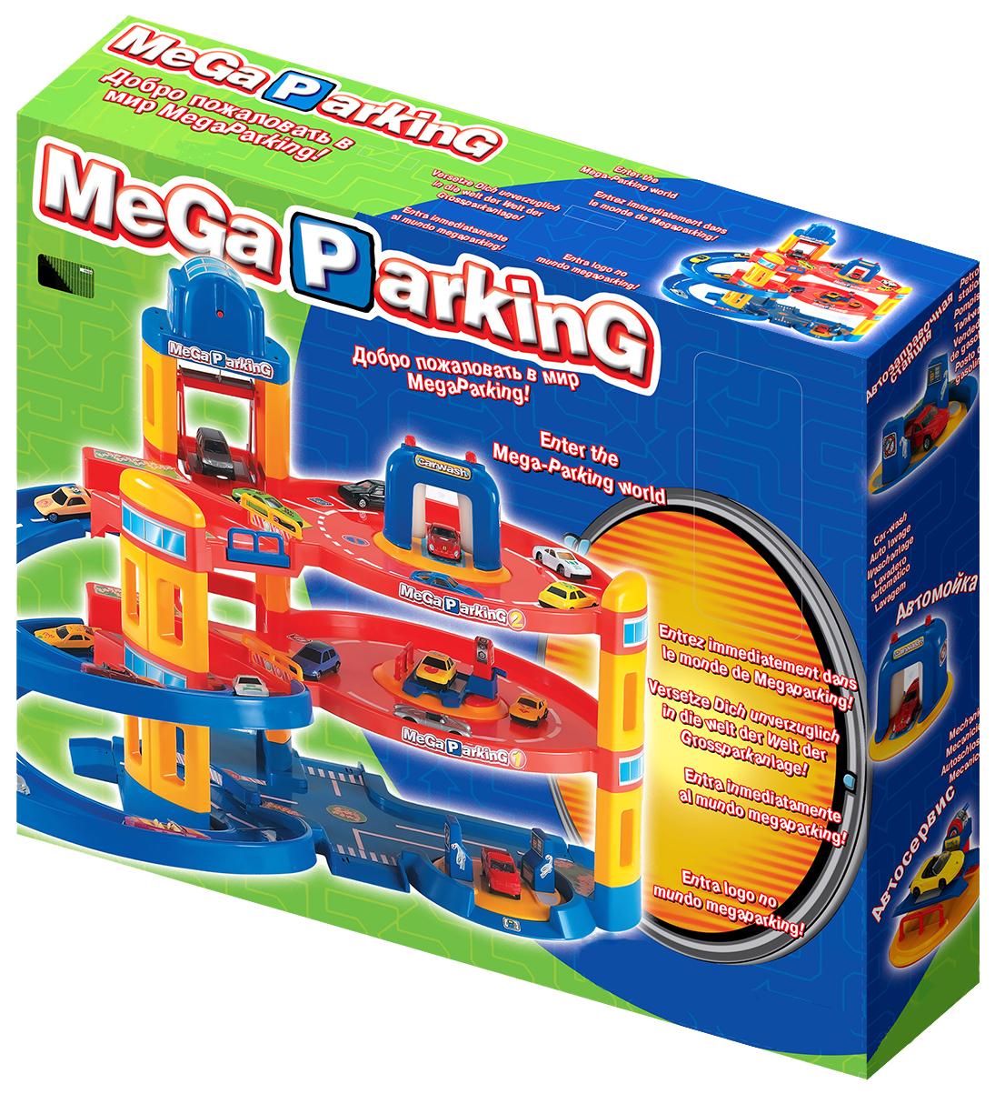 Купить Парковки и гаражи Нордпласт Мега паркинг с 5 машинками Р28582, НОРДПЛАСТ, Детские парковки
