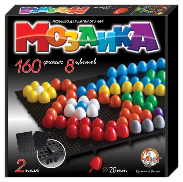 Купить Мозаики Десятое Королевство Пластмассовая детская мозаика 160 элементов,