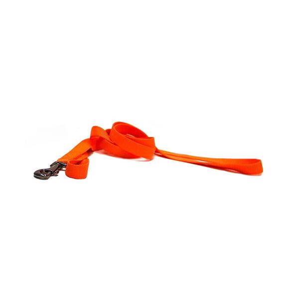 Поводок для собак GREAT&SMALL, нейлон, оранжевый, 1x120см