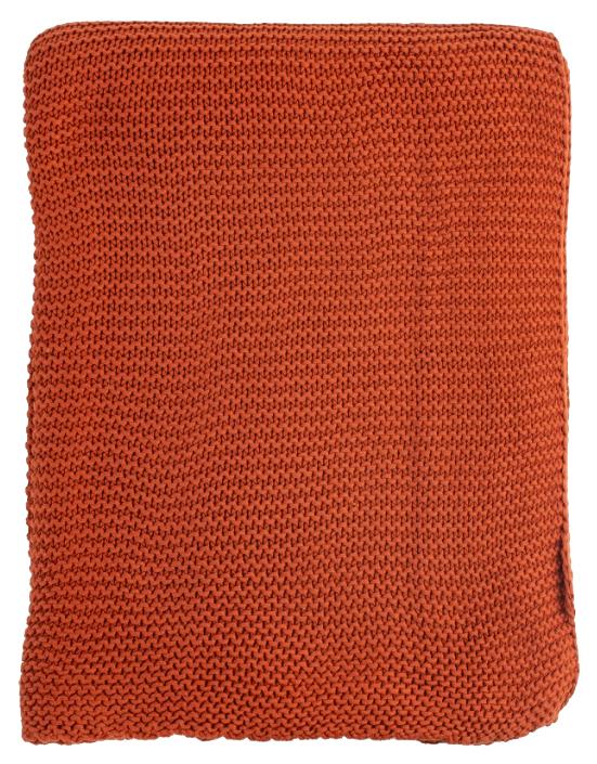 Плед жемчужной вязки терракотового цвета Essential 220х180 фото