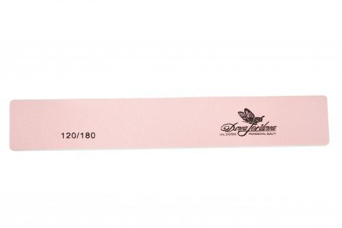 Купить Пилка для искусственных и натуральных ногтей Dona Jerdona 120/180 прямоугольная розовая