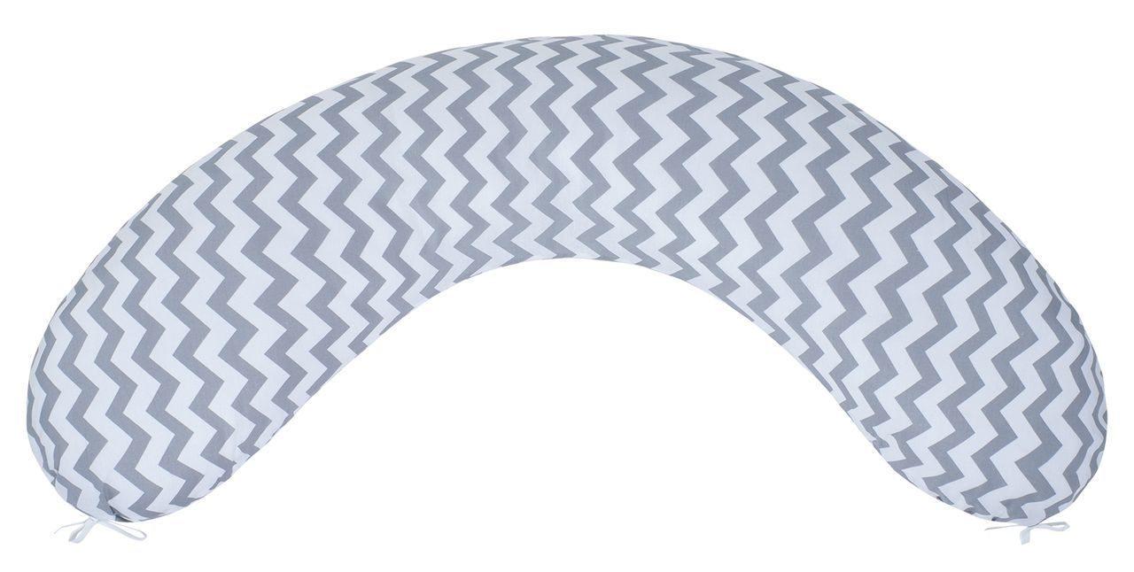 Подушка для беременных AmaroBaby 170х25 (Зигзаг вид серый) по цене 1 408