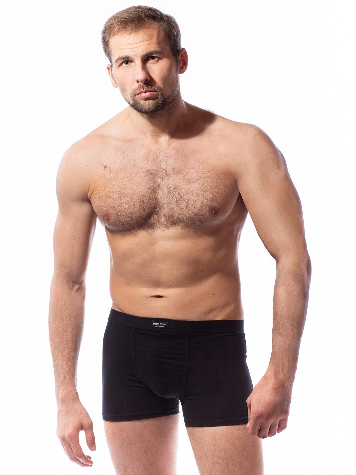 Трусы боксеры мужские Enrico Coveri черные XL