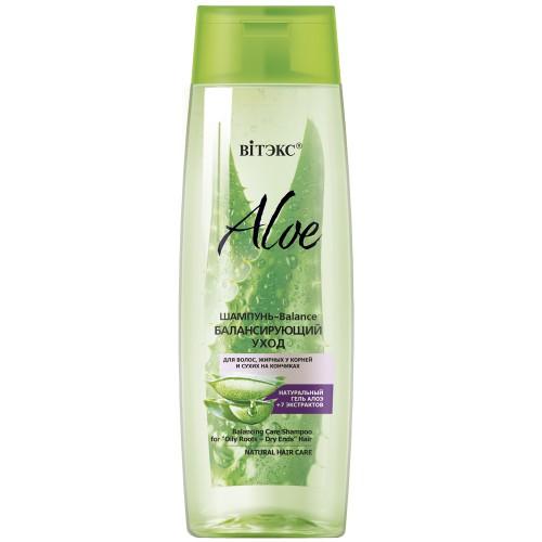 Шампунь Витэкс Aloe для волос, жирных у корней и сухих на кончиках 400 мл