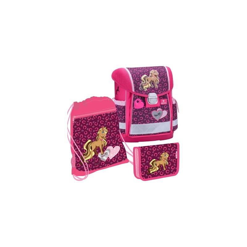 Купить Ранец Classy Anna Pet, Pony Belmil для девочек Розовый 403-13/622/SET ANNA PET, PONY, Школьные рюкзаки для девочек