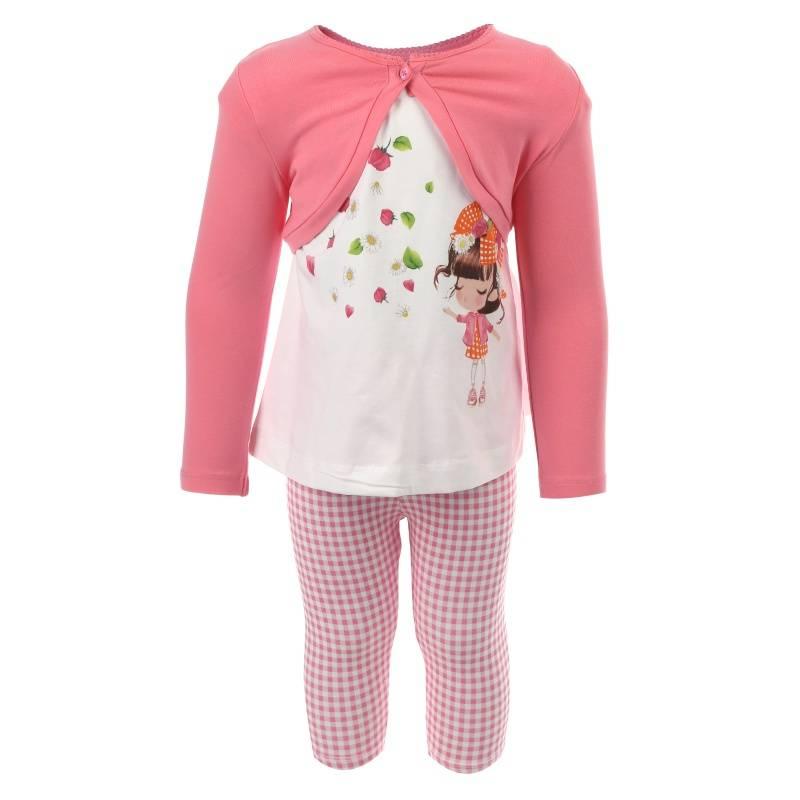 Купить Комплект 3 предмета MAYORAL, цв. розовый, 98 р-р, Детские костюмы