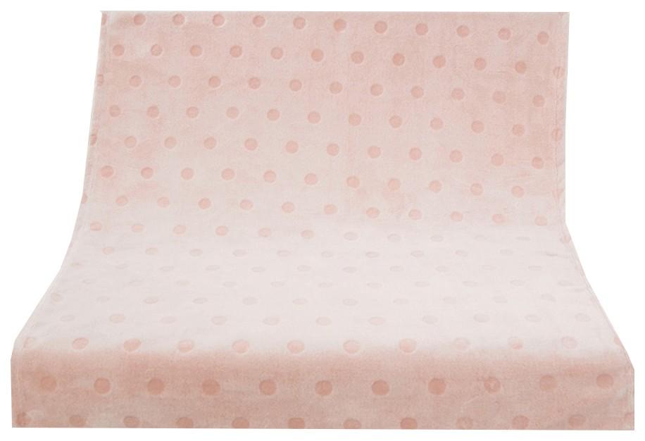 Плед-покрывало Baby Nice Горох 75х100 см, розовый