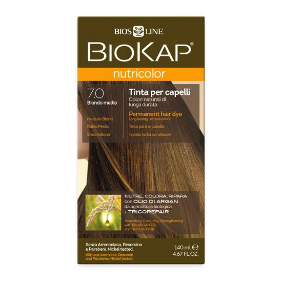 Краска для волос BIOKAP «Средне-русый» тон 7.0, 140 мл