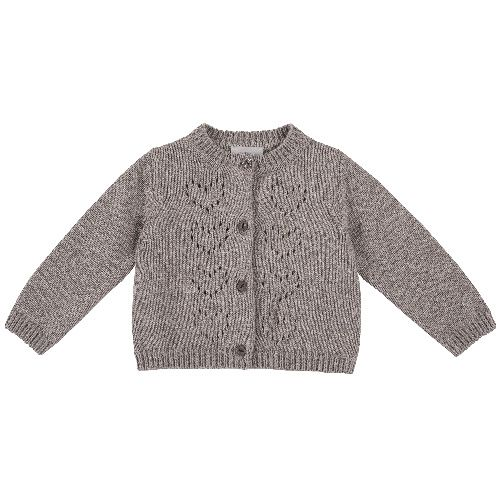 Купить 9096924, Кардиган Chicco для девочек р.86 цв.темно-бежевый, Кофточки, футболки для новорожденных