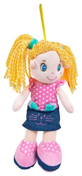 Купить Кукла, блондинка в джинсовой юбочке, мягконабивная, 20 см, ABtoys, Классические куклы