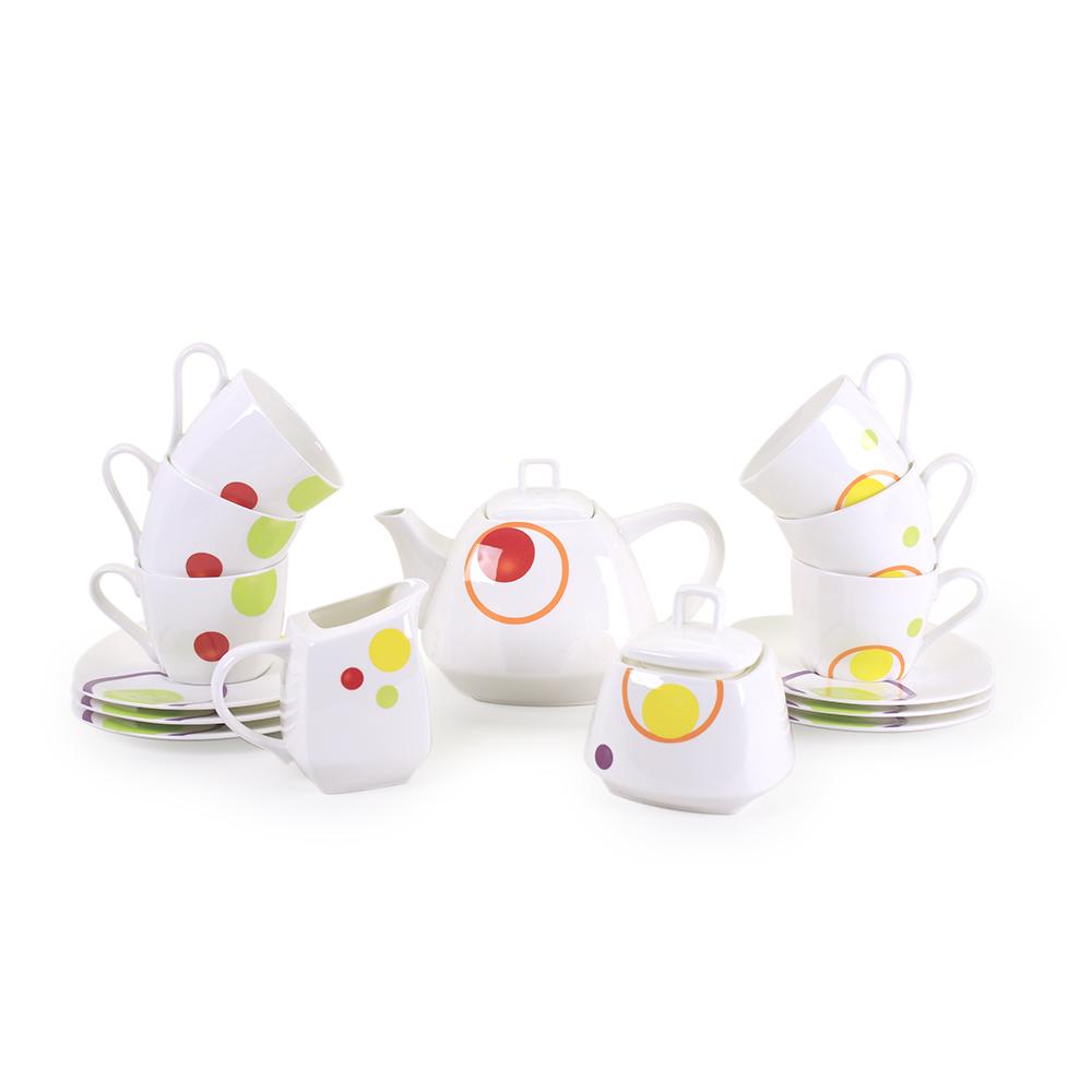 Чайный сервиз АККУ Круги 15 предметов