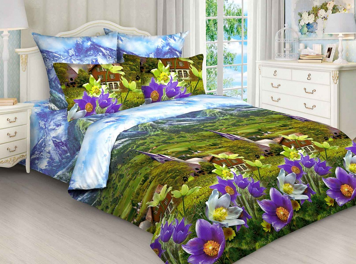 Комплект постельного белья Avrora Texdesign Бязь Люкс 4228, евро