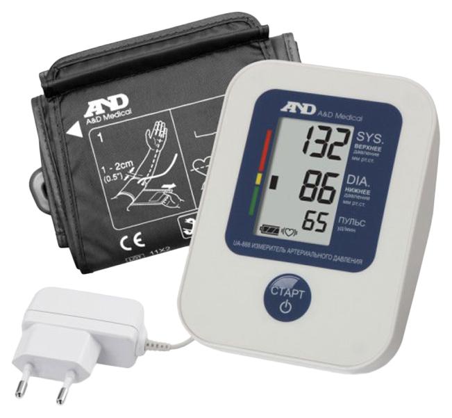 Тонометр A#and#D UA-888 c манжетой 23-37 см и сетевым адаптером