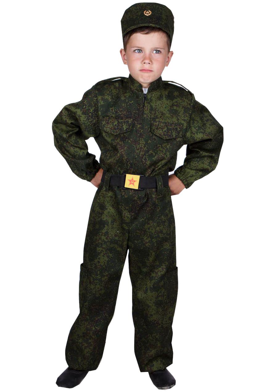 Купить 3771734, Карнавальный костюм Учитель Военный, цв. хаки р.134,
