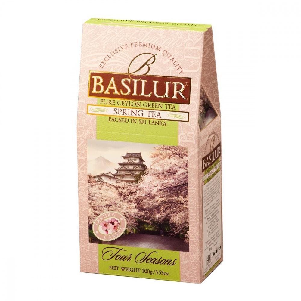 Чай Basilur Времена года - Весенний зеленый с добавками 100 г фото