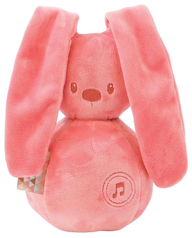 Купить Игрушка мягкая Nattou Musical Soft toy Lapidou Кролик coral,