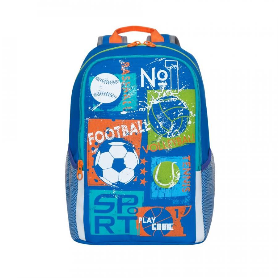 Купить Школьный Рюкзак для мальчика Grizzly Rb-960-1 Синий, Школьные рюкзаки и ранцы