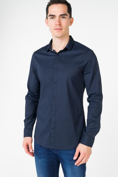 Рубашка мужская Armani Exchange 3ZZC34 синяя S фото