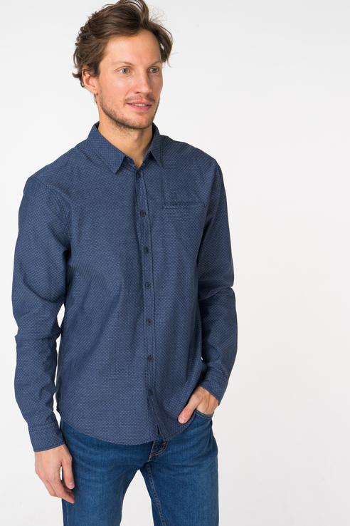 Рубашка мужская Blend 20707220 синяя S фото