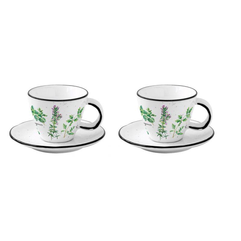 Набор из 2 чашек с блюдцами для кофе \