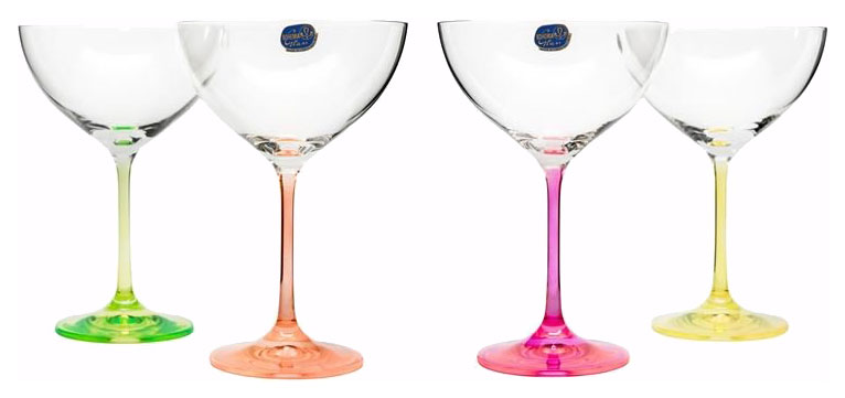 Набор бокалов Bohemia Crystal для мартини