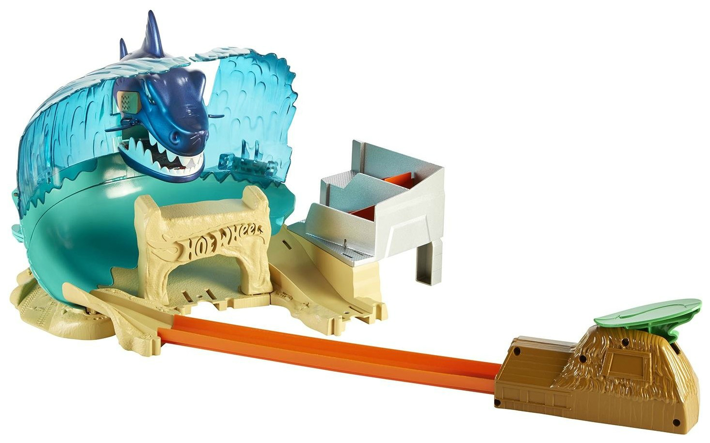 Купить Fnb21, Автотрек Hot Wheels Mattel игровой набор Схватка с акулой,