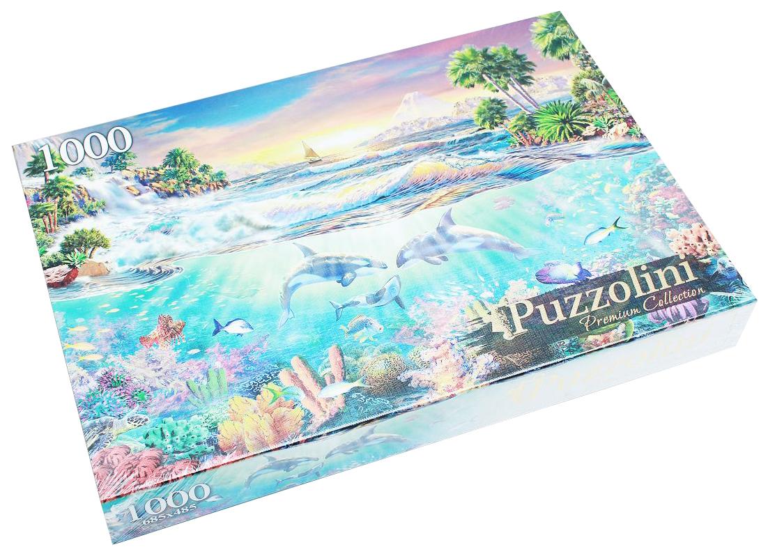 Пазлы Puzzolini 1000 элементов адриан честерман, дельфины в море mgpz1000-7731