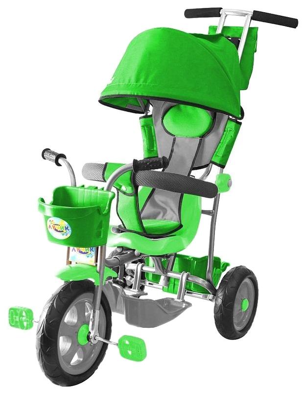 Велосипед трехколесный Galaxy Лучик с капюшоном зеленый