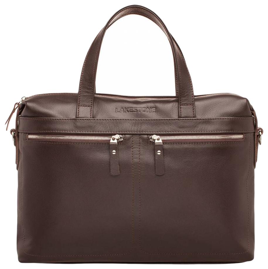 Портфель мужской кожаный Lakestone Dalston коричневый фото