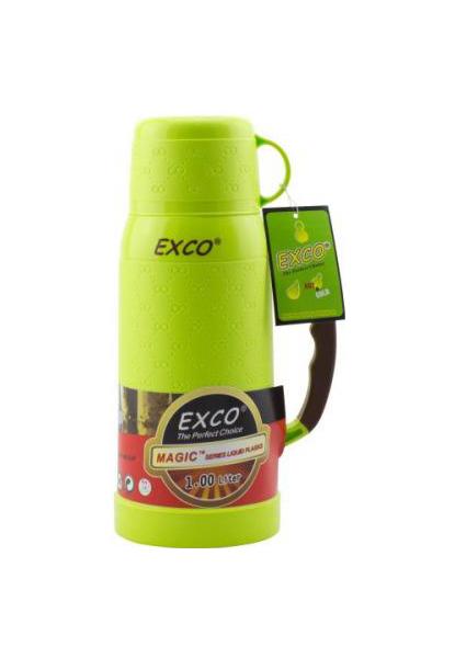 Термос Exco MC100 1 л голубой/желтый/зеленый