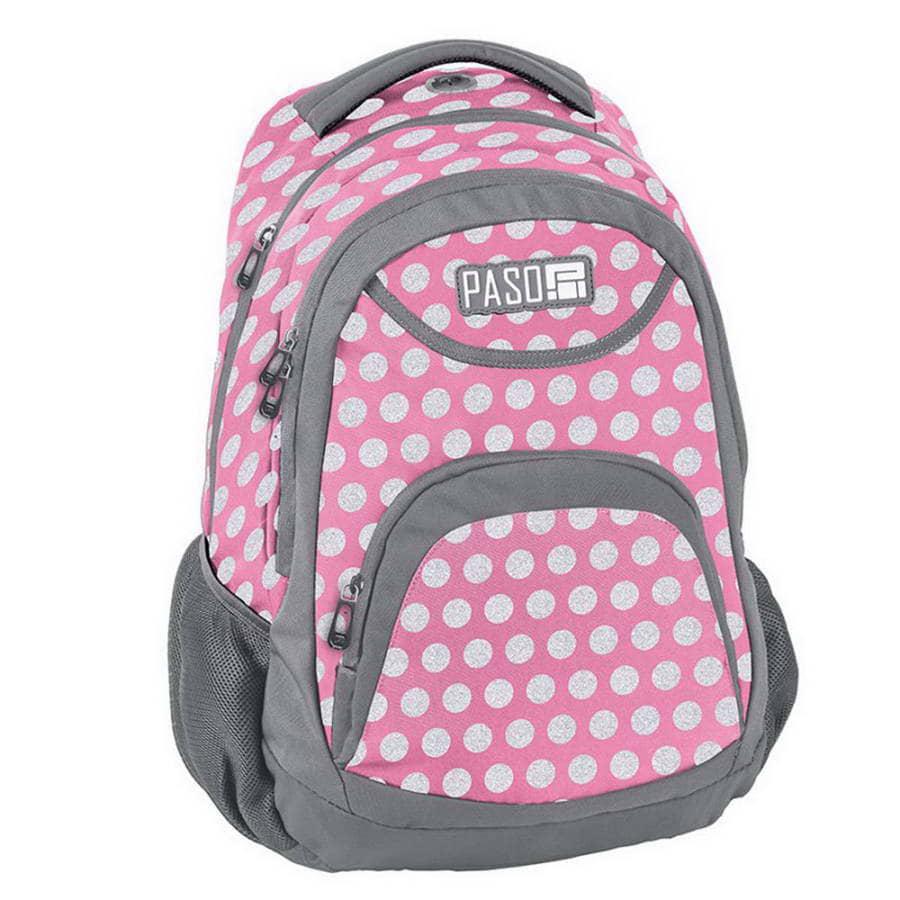 Рюкзак детский PASO Student spots light pink