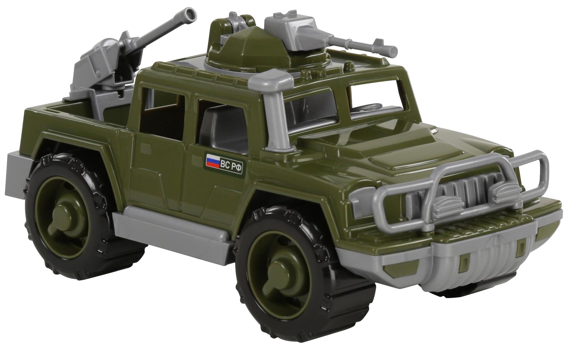 Купить Игрушки, Автомобиль-пикап Полесье военный Защитник с 2-мя пулемётами, Игрушечные машинки