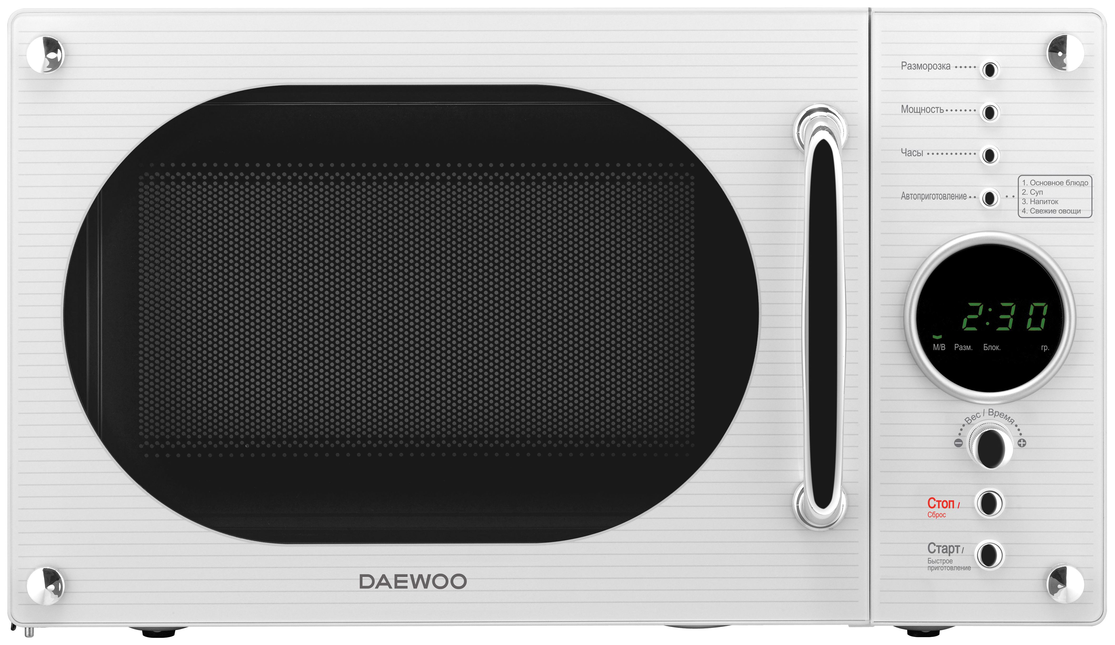 Микроволновая печь соло Daewoo KOR 819RW white