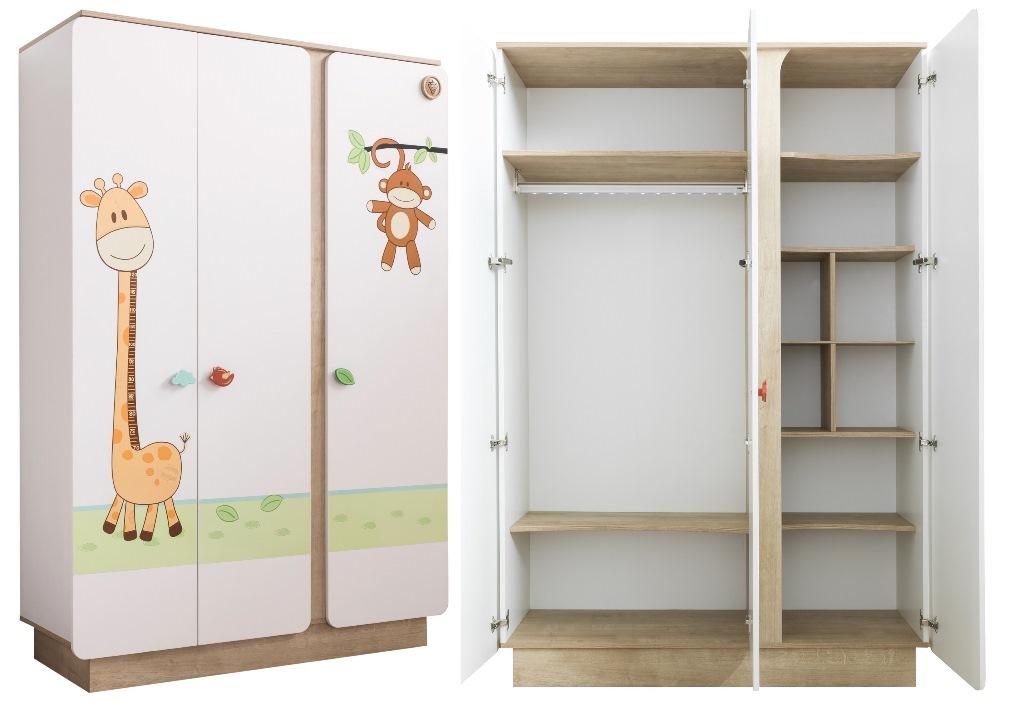 Купить Шкаф трехдверный Cilek Safari Natura, Шкафы в детскую комнату