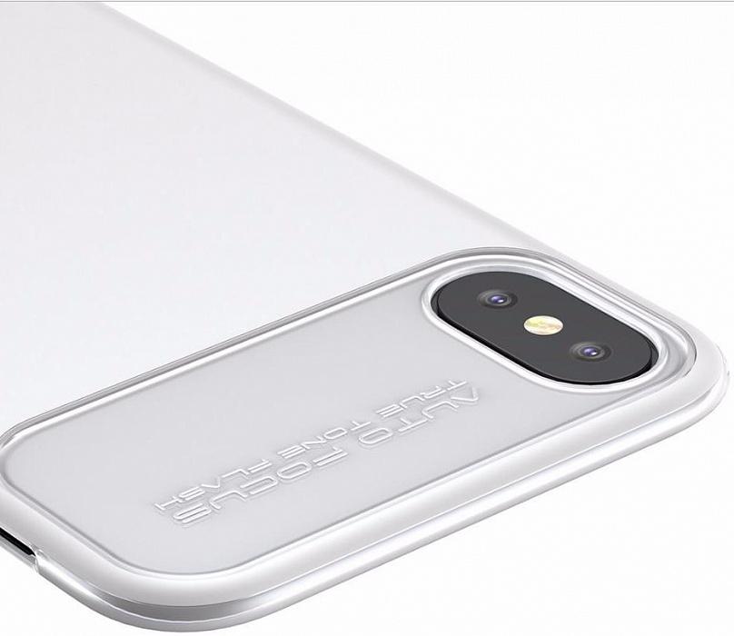 Чехол Baseus Slim Lotus Case (WIAPIPHX-QF02) для Apple iPhone X (White)