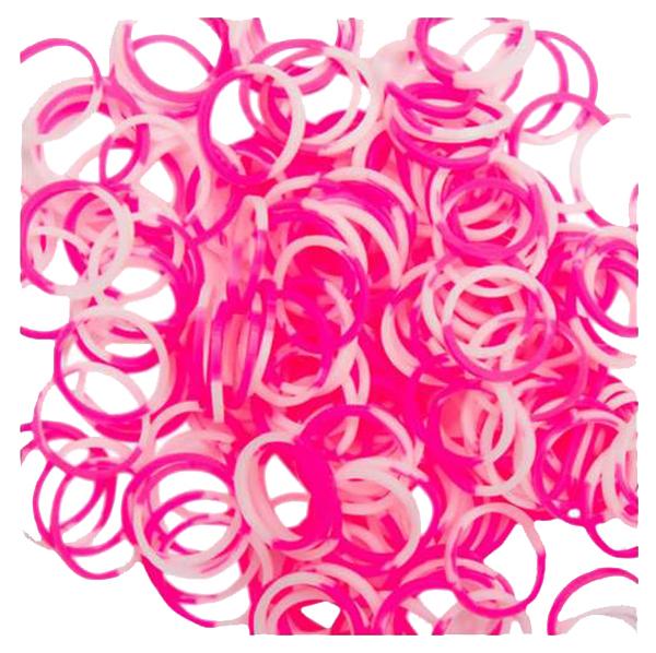 Набор резинок для плетения Rainbow Loom розово-белый 300 шт.